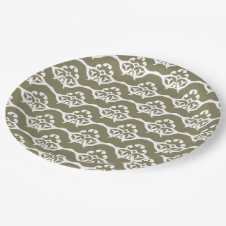 Elegant Design Pattern Paper Plate