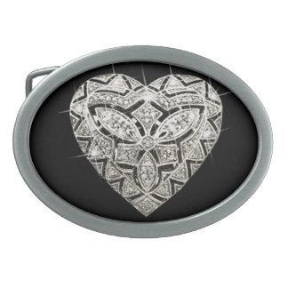 Elegant Designer Heart Belt Buckle