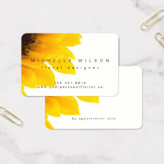 Elegant Designer Sunflower Business Card