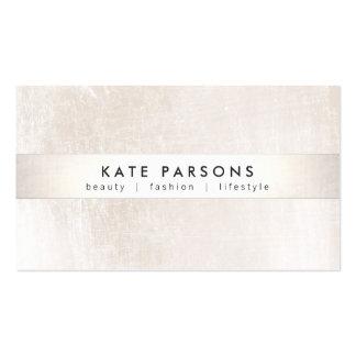 Elegant Designer White Marble and Silver Stripe Business Card