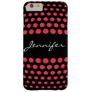 Elegant Desire Polka Dots Pattern Barely There iPhone 6 Plus Case