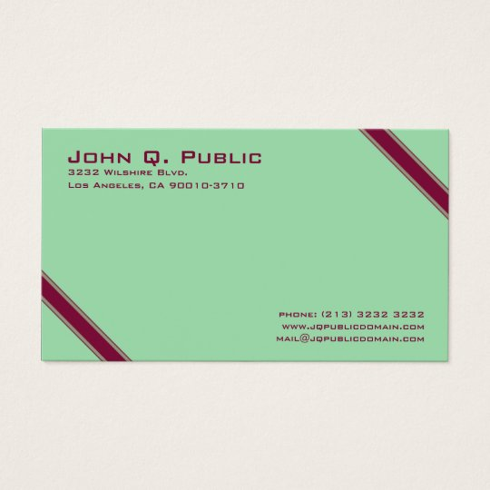 Elegant Diagonal Stripes Business Card