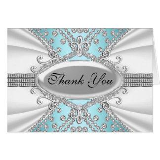 Elegant Diamond Blue Thank You Card