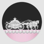 Elegant Diamond Carriage Pink Princess Stickers