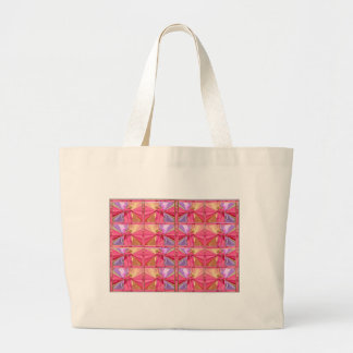 Elegant Diamond Pattern Rose Pink Smile Happy Show Jumbo Tote Bag