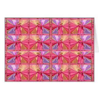 Elegant Diamond Pattern Rose Pink Smile Happy Show Card