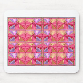 Elegant Diamond Pattern Rose Pink Smile Happy Show Mouse Pad