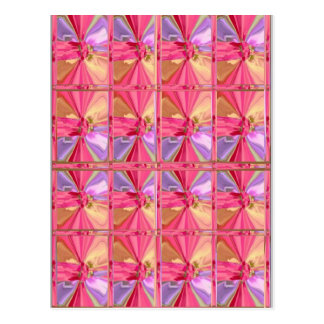 Elegant Diamond Pattern Rose Pink Smile Happy Show Post Card