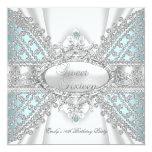 Elegant Diamond Teal Sweet 16 Sixteen Invitation Personalized Announcement