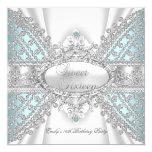 Elegant Diamond Teal Sweet 16 Sixteen Invitation