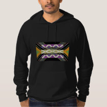 Elegant Diamond Waves n Strip for Text Greeting Hoodie