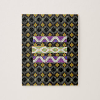 Elegant Diamond Waves n Strip for Text Greeting Puzzle
