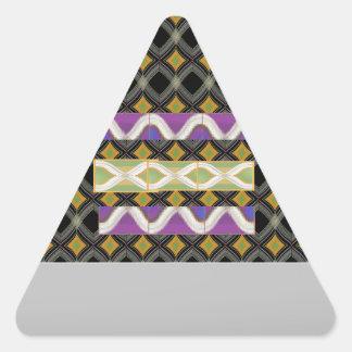 Elegant Diamond Waves n Strip for Text Greeting Triangle Sticker