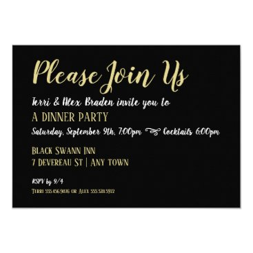 Professional Business Elegant Dinner Party Reception Event Invitation