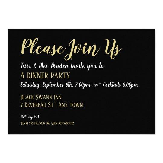 elegant dinner party reception event invitation zazzle com