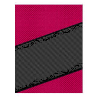 Elegant  discrete stripes stylish lace polka dots postcard