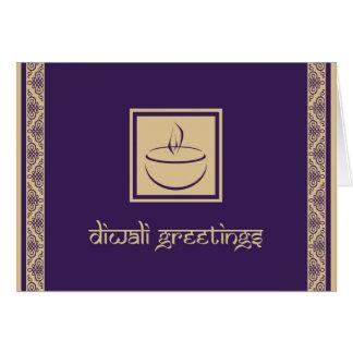 Elegant Diwali Greeting Card with Deya