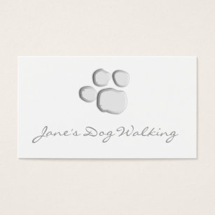 Dog paw print business cards templates zazzle elegant dog walking paw print business card colourmoves