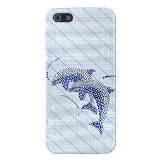 Elegant Dolphin Jewels Cover For iPhone 5/5S