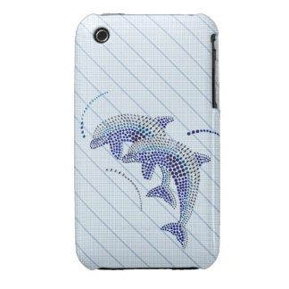 Elegant Dolphin Jewels iPhone 3 Case-Mate Case