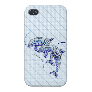 Elegant Dolphin Jewels iPhone 4/4S Cover