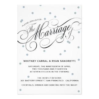 Elegant Dot Silver Wedding Invitation