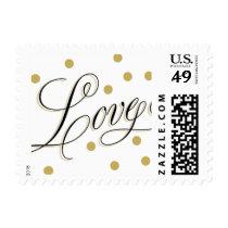 Elegant Dots Gold Love Stamp