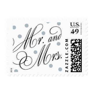 Elegant Dots Silver Mr. + Mrs. Stamp