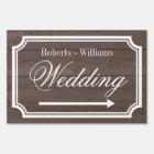 Elegant double sided directional wedding yard sign