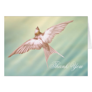 Elegant Dove Funeral Thank You Cards