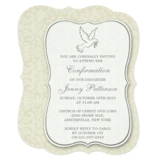 Elegant Dove Holy Spirit Communion Or Confirmation Card