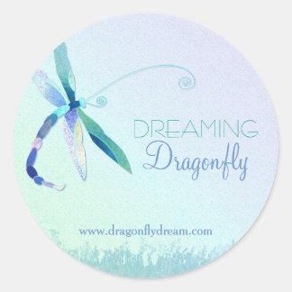 Elegant Dragonfly Business Classic Round Sticker