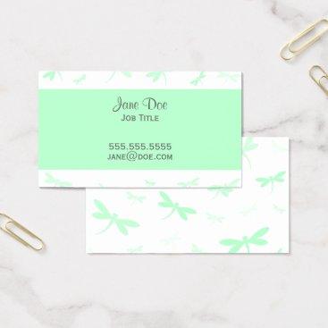 Professional Business Elegant Dragonfly Design Business Card