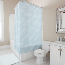Elegant Dragonfly Pattern - Choose Your Own Color Shower Curtain