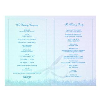 Elegant Dragonfly Wedding Ceremony Bi Fold Program Flyer