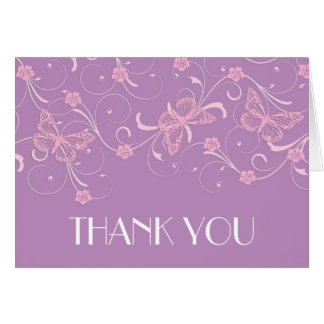 Elegant Dream Lavender Butterfly Thank you card Cards