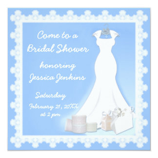 Elegant Dress Bridal Shower Invitation