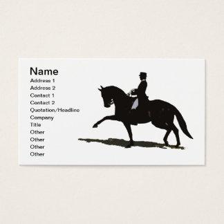 Dressage horse business cards templates zazzle elegant dressage horse business card yadclub Images