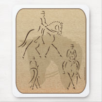 Elegant Dressage Horse Design in Brown/Tan Mouse Pad