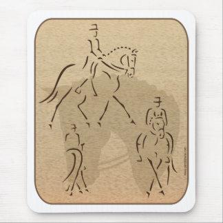 Elegant Dressage Horse Design in Brown/Tan Mouse Pad