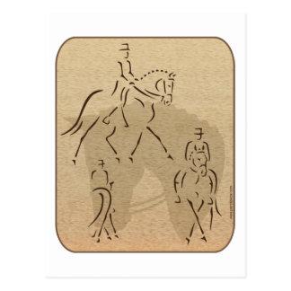 Elegant Dressage Horse Design in Brown/Tan Postcard