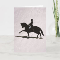Elegant Dressage Horse & Rider Holiday Card
