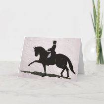 Elegant Dressage Horse & Rider Holiday Card