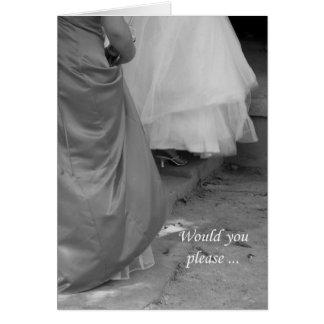 Elegant Dresses Bridesmaid Invitation Request Card
