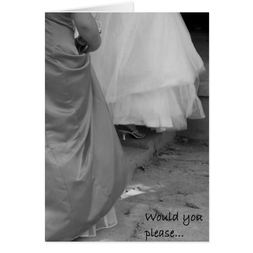 "Elegant Dresses ""Please Be My Bridesmaid"" Card"