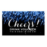 "Elegant Drink Voucher Falling Stars ""Sapphire Blue Double-Sided Standard Business Cards (Pack Of 100)"
