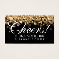 Elegant Drink Voucher Gold Lights