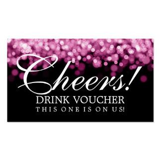 Elegant Drink Voucher Pink Lights Business Cards