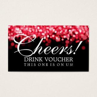 Elegant Drink Voucher Red Lights Business Card