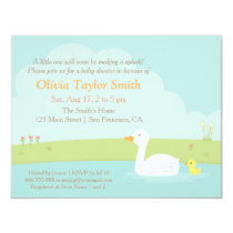 Elegant Duck and Duckling Baby Shower Invitations